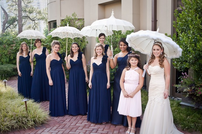 ombrelle ou éventail-mariage-demoiselles-bleu