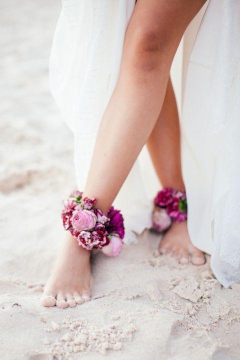 pied nu mariage plage bord de mer