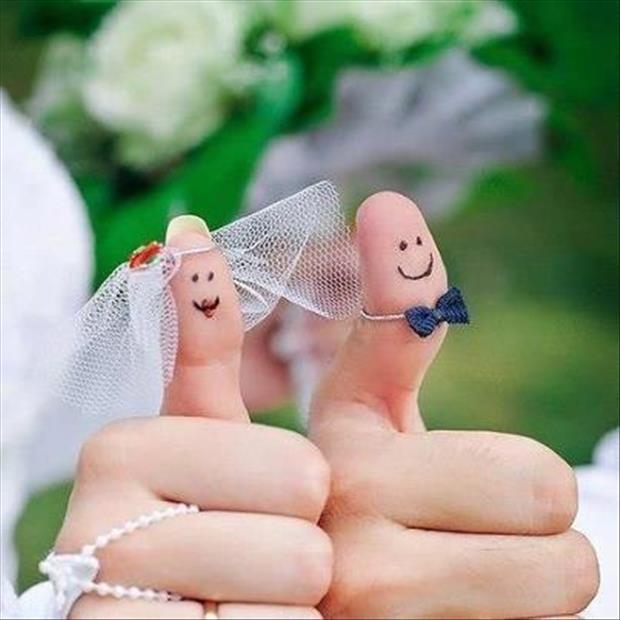 pouces decores mariage