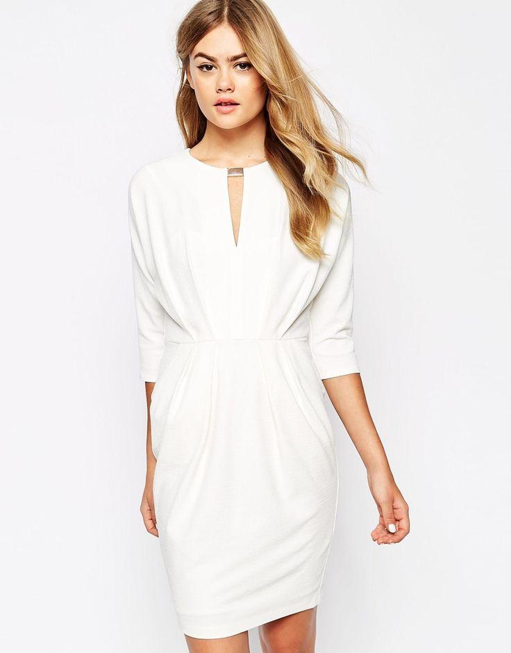 robe asos blanche