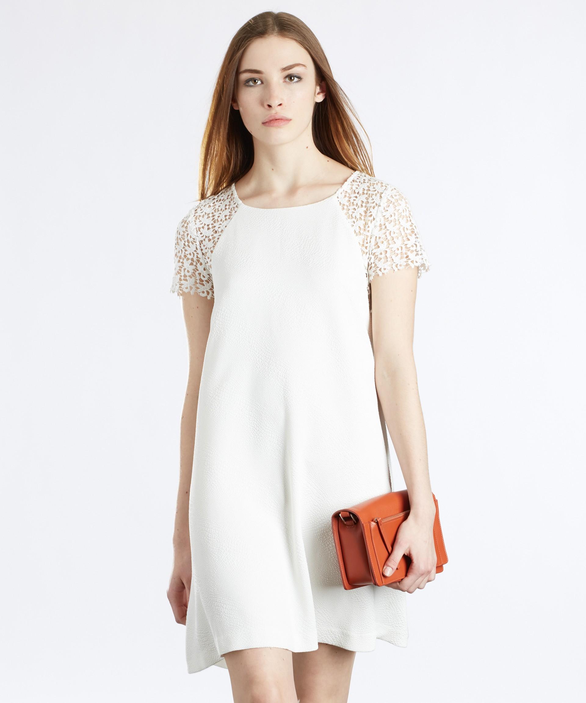 robe dentelle blanche sandro la mode des robes de france. Black Bedroom Furniture Sets. Home Design Ideas