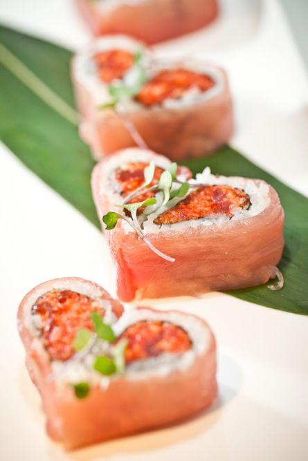 sushis en forme de coeur