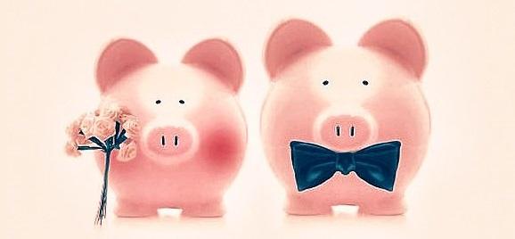 tirelires cochon budget mariage