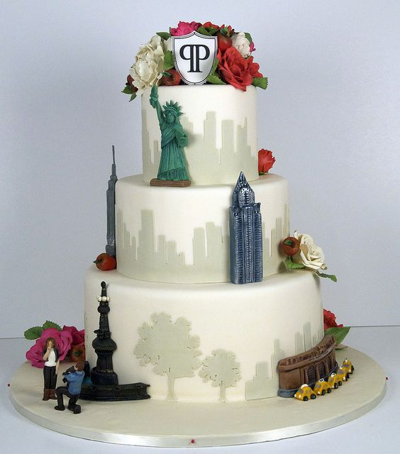 wedding cake mariage theme new york
