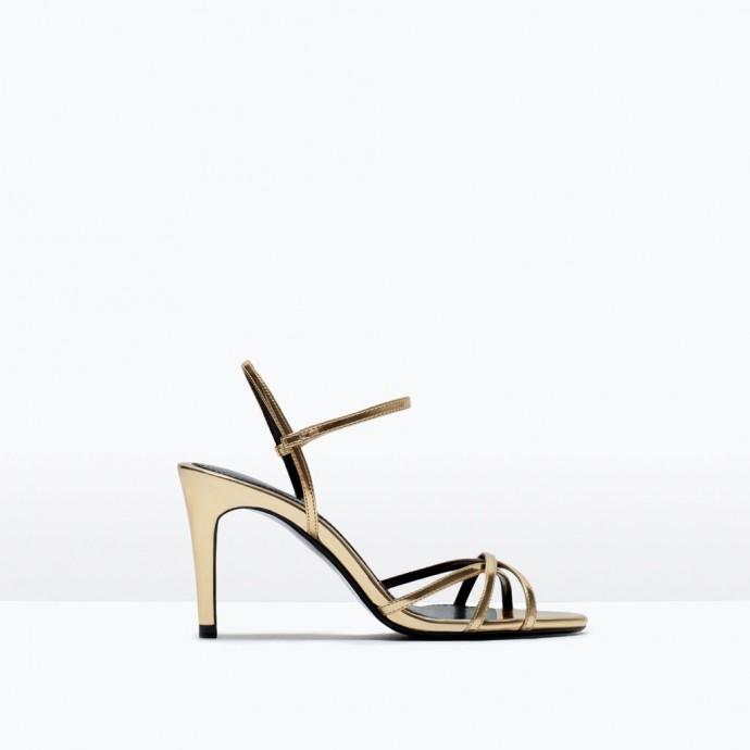 zara, sandale talon moyen,ref2615-001, 29,95