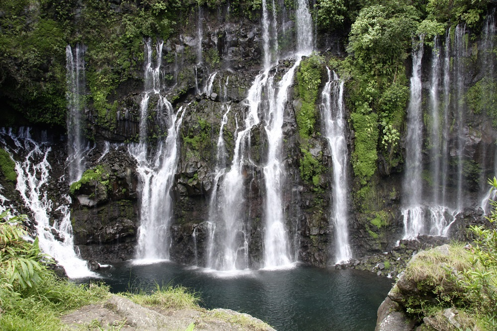 Grand Galet waterfall, Langevin river