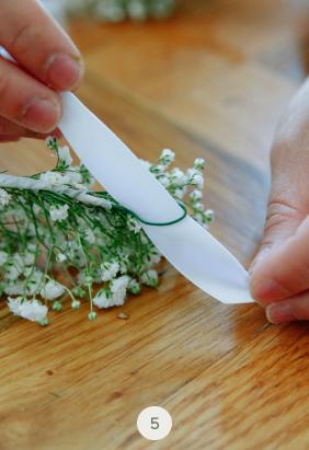 DIY couronne de fleurs 5