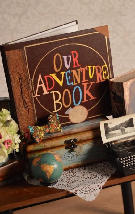 Le livre d'or de nos aventures, comme un livre de contes.