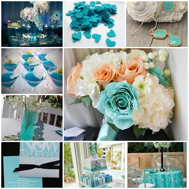 Montage planche mariage bleu lagon