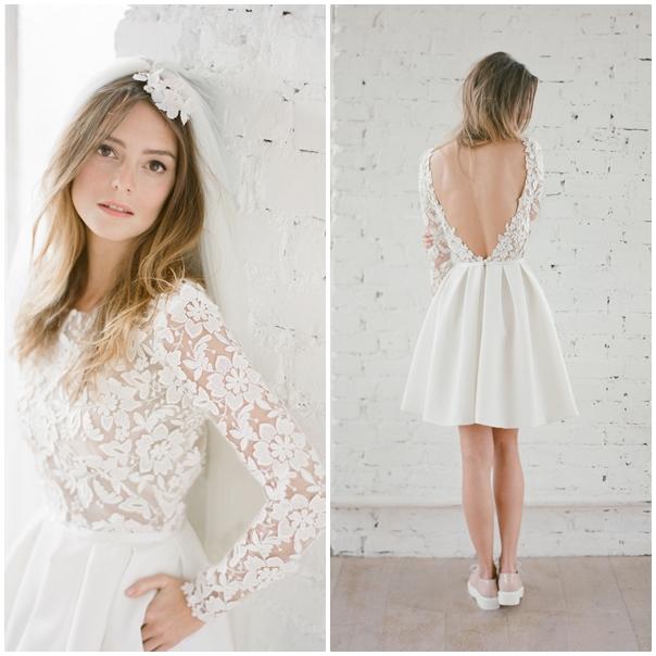 ... de la jupe, cette robe sera sublimée par une couronne de fleurs. Un