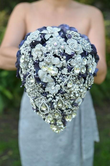 bouquets de mariée-mariage--bijoux-bleu