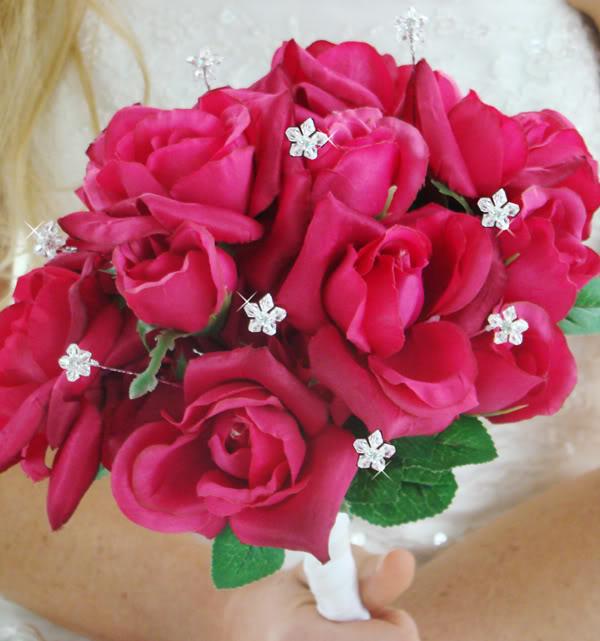 bouquets de mariée-mariage--bijoux-roses