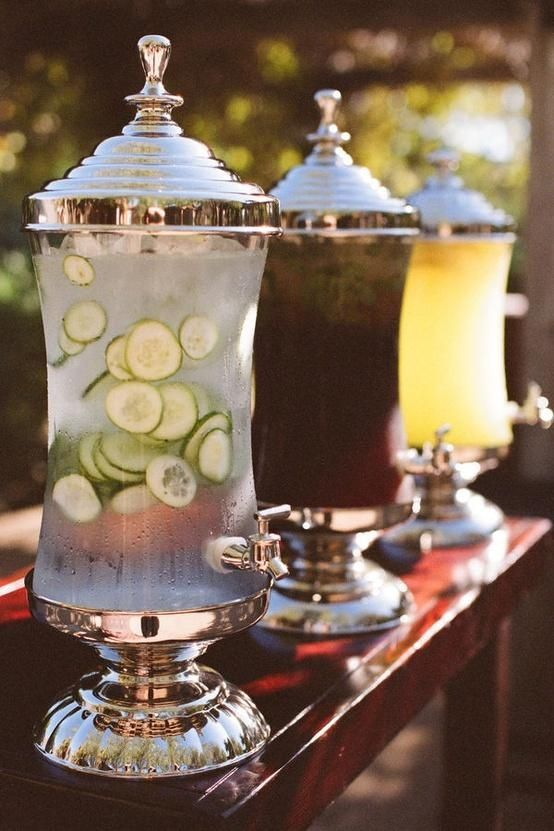boissons froides pour mariage d'été