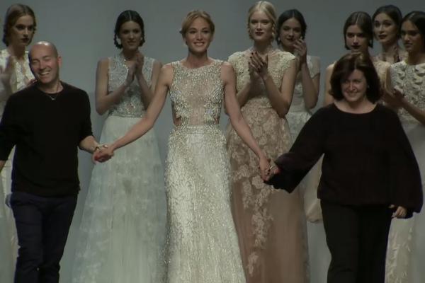 image une defile marco et maria bridal fashion week barcelone