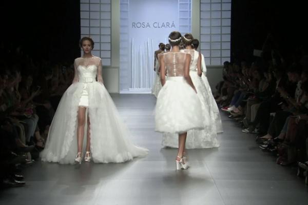 image une defile rosa clara bridal fashion week barcelone