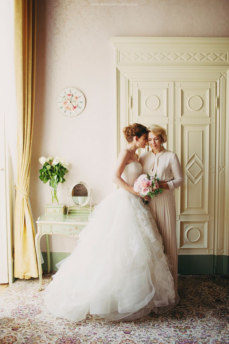 mère de mariée et mariée