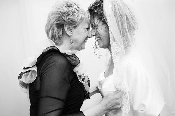 maman et sa fille noir et blanc