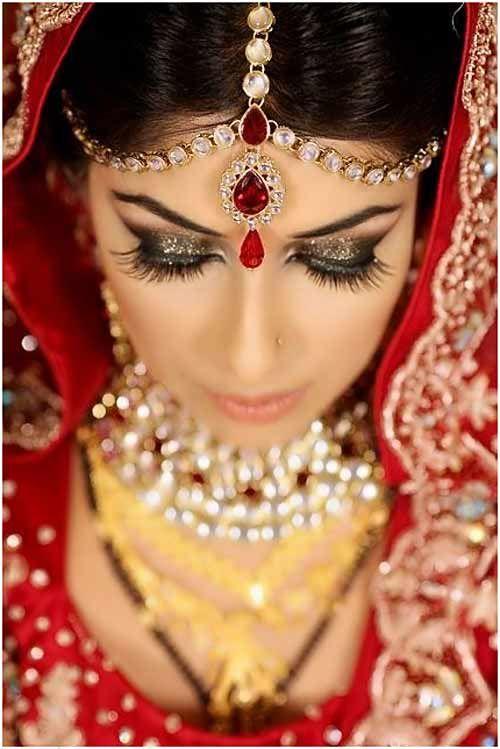 maquillage mariee indienne