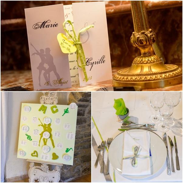 montage mariage marie et cyrille decoration faite main