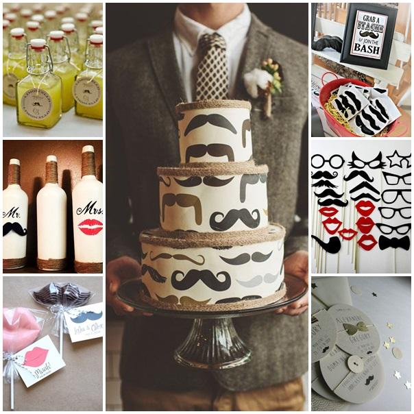 montage mariage moustache