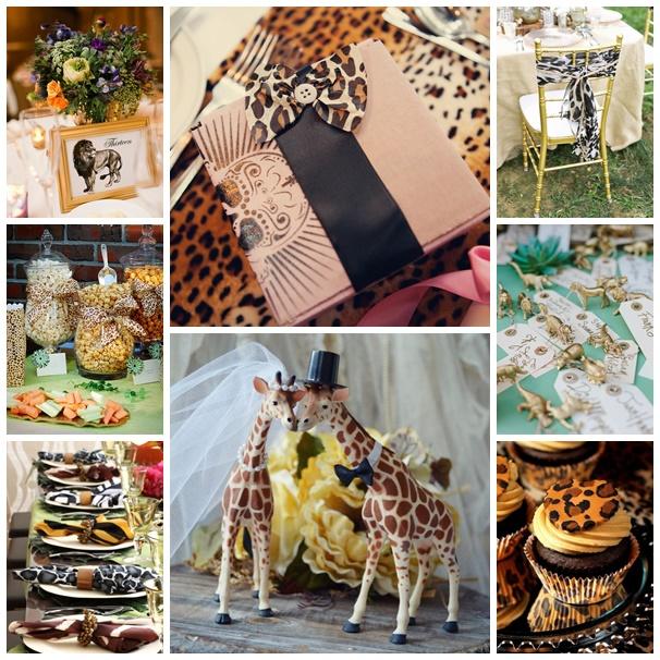 montage mariage theme savane