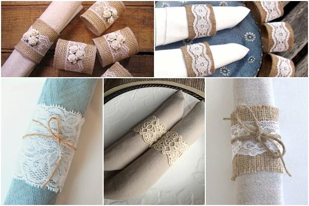 Diy la dentelle nous inspire pour customiser nos ronds - Rond de serviette noel a faire soi meme ...