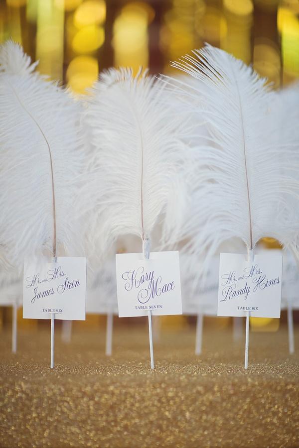 decoration mariage plume