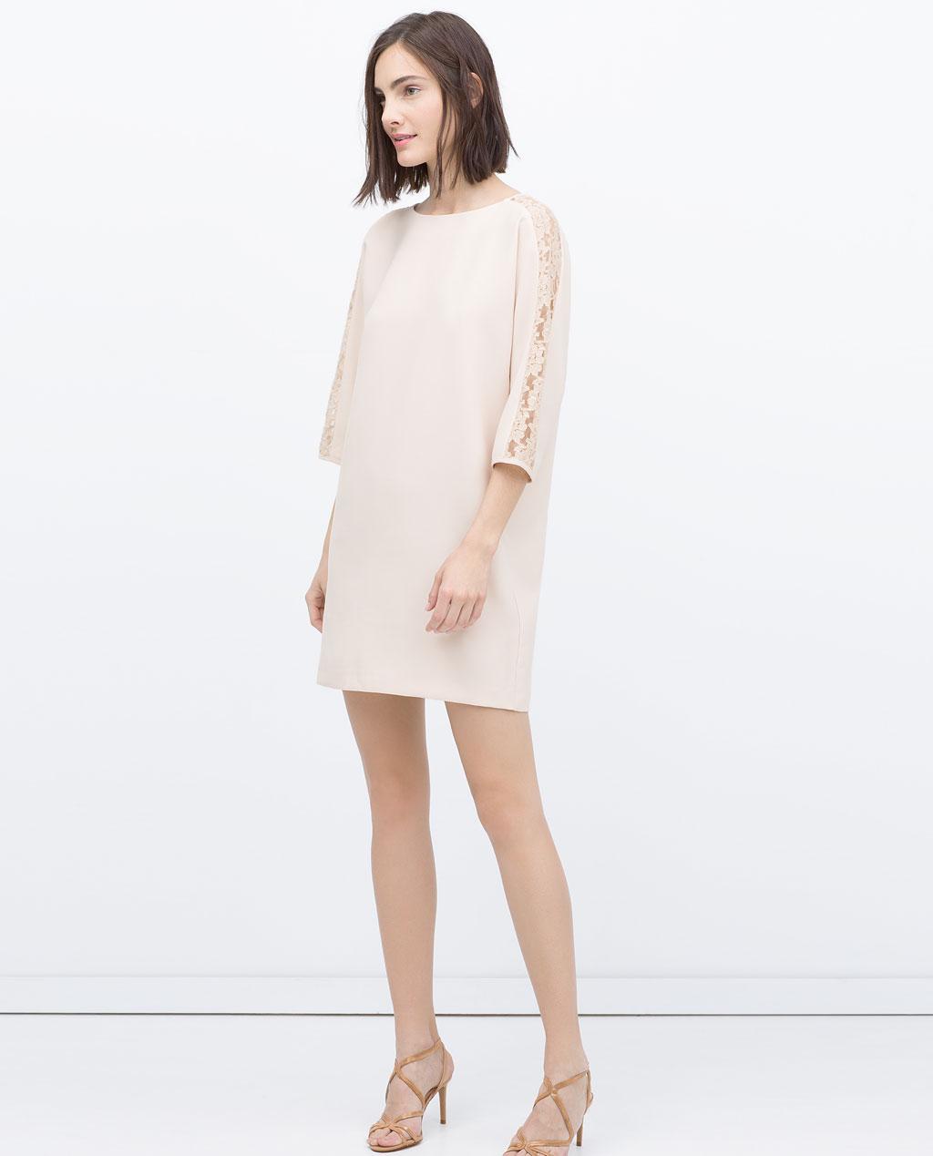 robe à manches longues zara