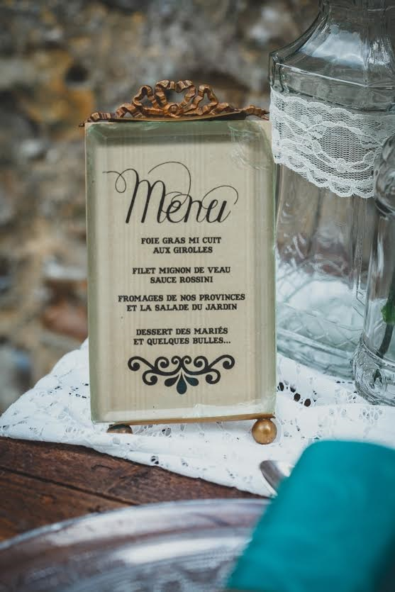 shooting inspiration menu retro mariage