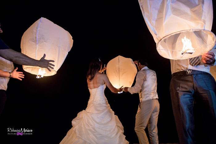 sophie et fabien lanterne mariage