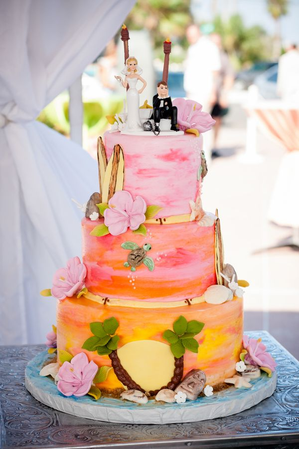 wedding cake mariage a hawai