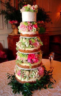 Cheese wedding cake flower