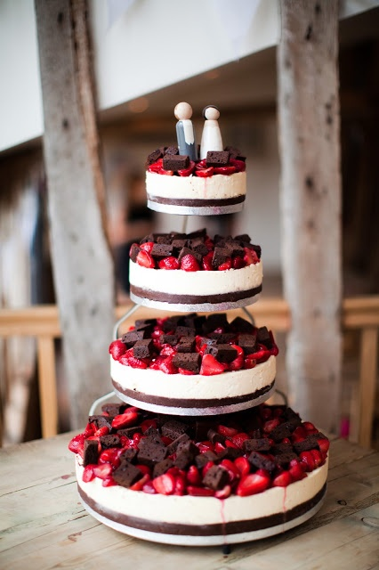 Cheese wedding cake fruits
