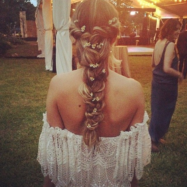 Cheveux mariee mariage Peace and Love