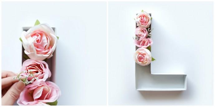 diy des lettres fleuries pour d corer un mariage champ tre. Black Bedroom Furniture Sets. Home Design Ideas