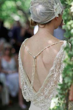 Dentelle dos de robe de mariee mariage Downton Abbey