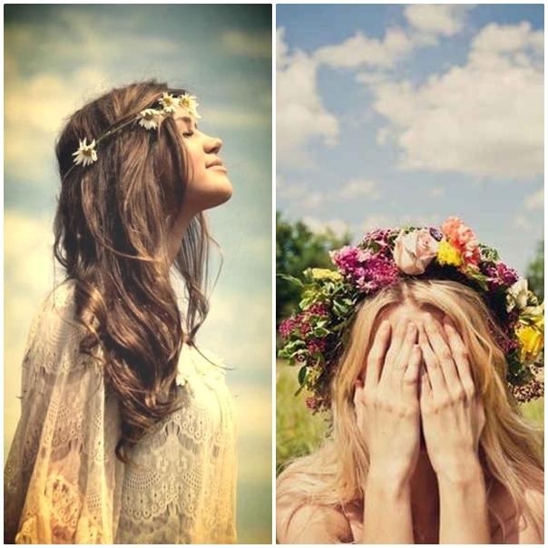 Des couronnes de fleurs pour mon mariage peace and love