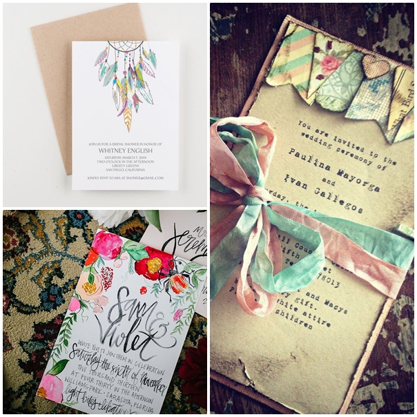 Invitations de mariage Peace and Love