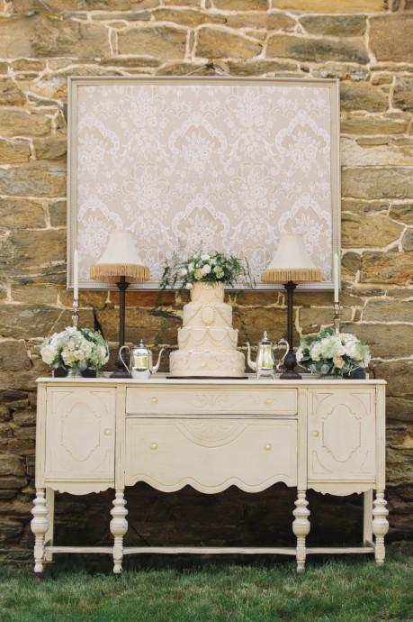 Presentation gateau - Sweet table mariage Downton Abbey