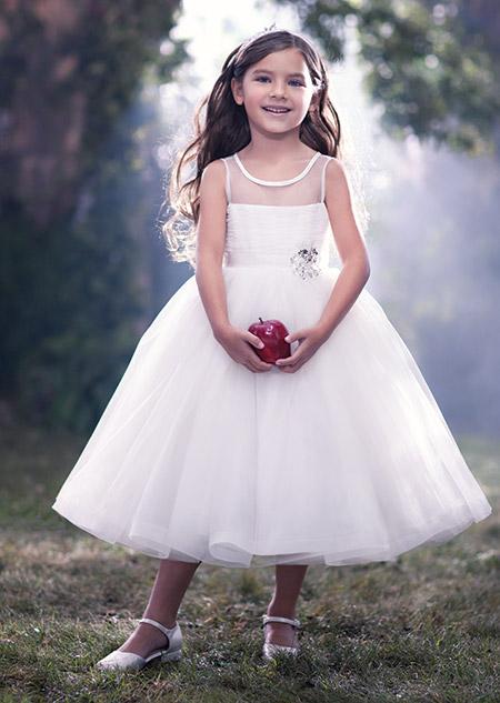 Robe blanche pour petite fille d honneur
