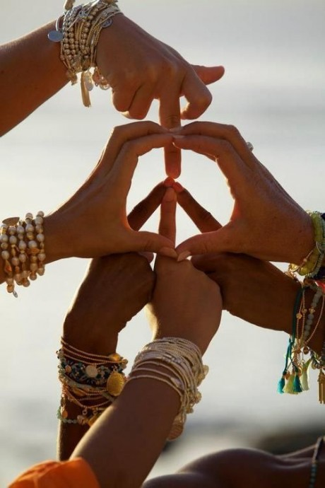 Symbole hippie chic mariage Peace and Love