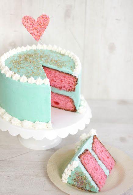 Vert d'eau et rose layer caker mariage
