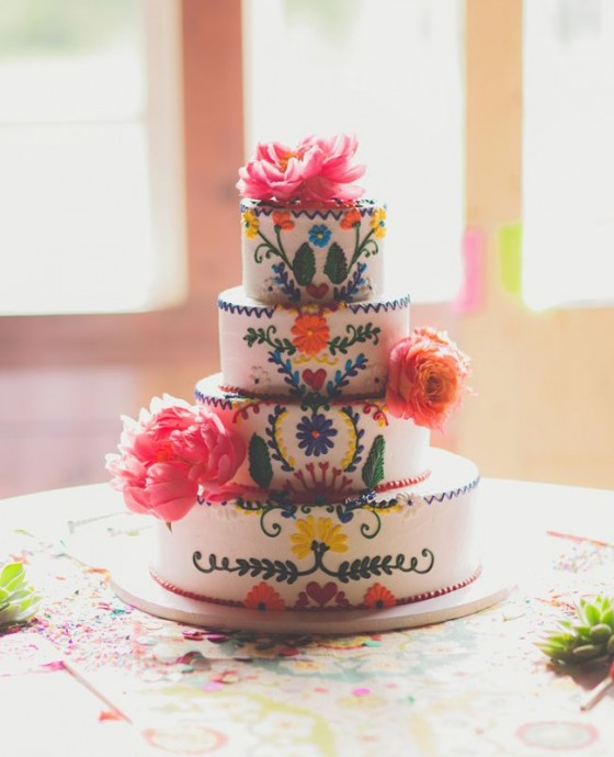 Wedding cake 2 mariage Peace and Love