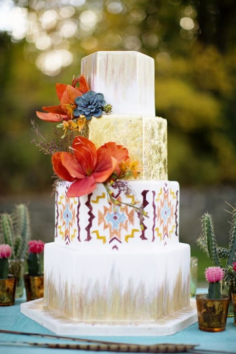 Wedding cake 3 mariage Peace and Love
