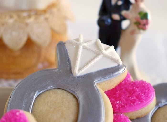 Petits gâteaux strass et paillettes pour ma fête de fiançailles