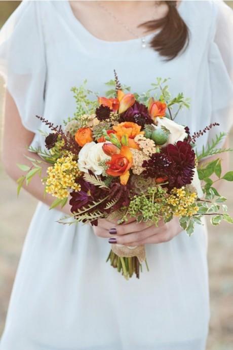 10 bouquets de mari e aux couleurs de l 39 automne. Black Bedroom Furniture Sets. Home Design Ideas