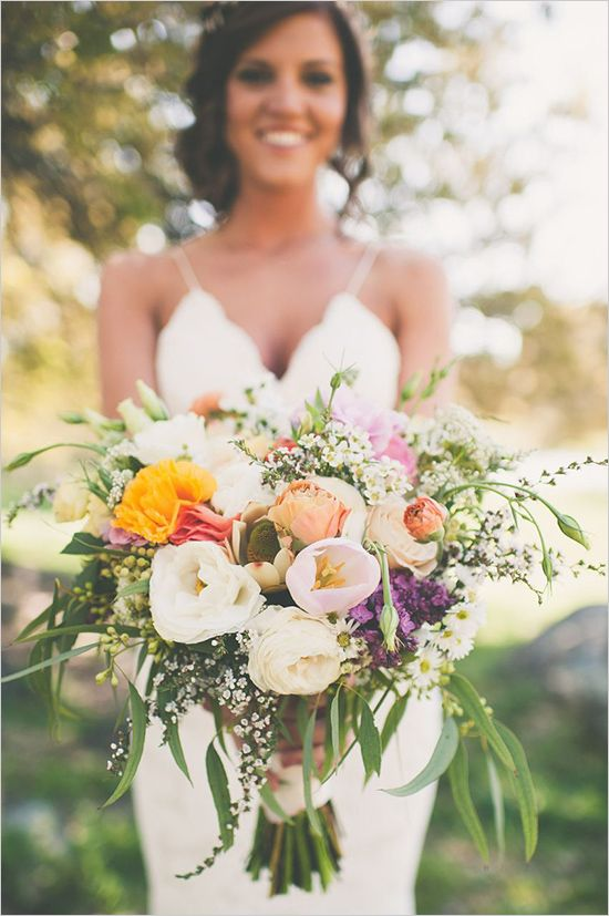 bouquet de mariee rustique