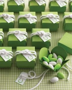 cadeau convives mariage vert 1