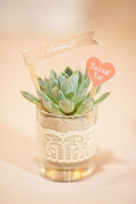 cadeau convives mariage vert 2