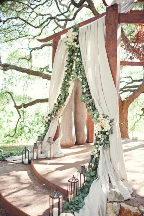 ceremonie mariage wood chic